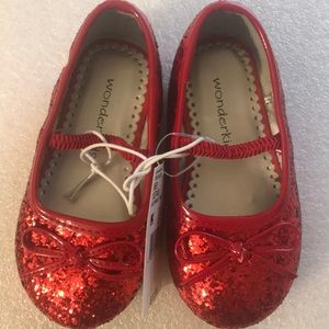 Wonderkids Red Toddlers bow knot shoes - sz -6